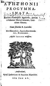 Aphthonii progymnasmata ...