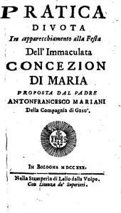 Pratica Divota In apparecchiamento alla Festa Dell' Immaculata Concezion Di Maria