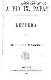 A Pio 9., papa lettera