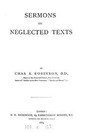Sermons on neglected texts