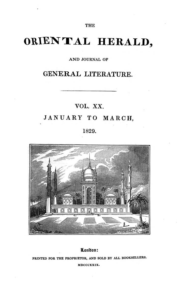 The Oriental Herald and Colonial Review