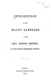 Introduction to the Malto Language