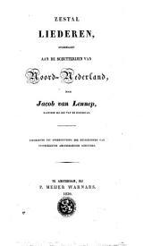 Zestal liederen opgedragen aan de schutteryen van Noord-Nederland