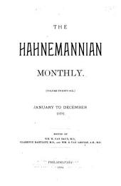 The Hahnemannian Monthly: Volume 26