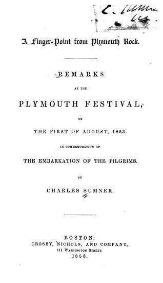A Finger pointed from Plymouth Rock PDF