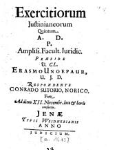 Exercitia Iusitianea: Volume 5