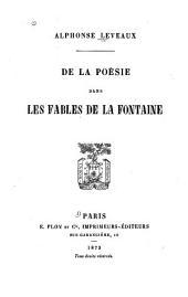 De la poésie dans les Fables de La Fontaine