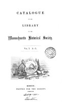 Catalogue of the library of the Massachusetts historical society PDF