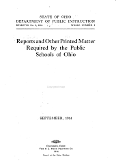 Reports and Other Printed Matter Required by the Public Schools of Ohio