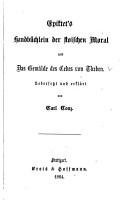 Handb  chlein der stoischen Moral und das Gem  lde des Cebes von Theben PDF