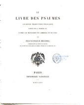 Le livre des psaumes ancienne traduction française