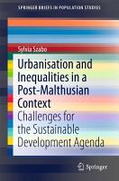 Urbanisation and Inequalities in a Post Malthusian Context PDF