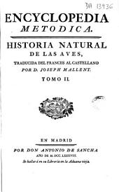 Encyclopedia metódica: historia natural de las aves