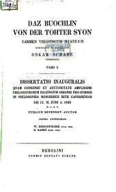 Daz buochlin von der Tohter Syon: carmen theotiscum mysticum, Volume 1