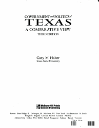 Government And Politics Of Texas Book PDF