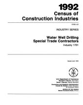 1992 Census of Construction Industries: Industry series, Volume 20