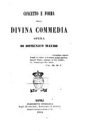 Concetto e forma della Divina Commedia opera di Domenico Mauro