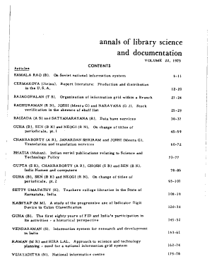Annals of Library Science and Documentation PDF