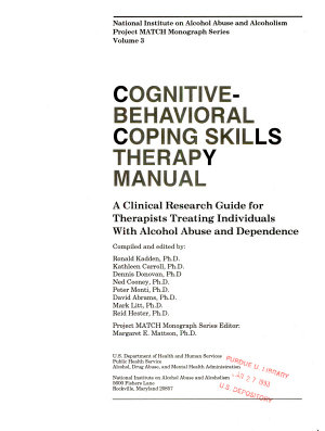 Cognitive behavioral Coping Skills Therapy Manual