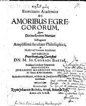 Exercitatio Academica De Amoribus Egregororum, Quam Divino favente Numine suffragante Amplissima facultate Philosophica ... Respondens Johannes Mauricius Polzius (etc.)