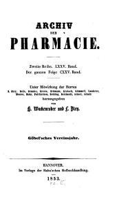 Archiv Der Pharmazie: Chemistry in Life Sciences, Volume 75