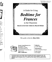 A Guide for Using Bedtime for Frances in the Classroom