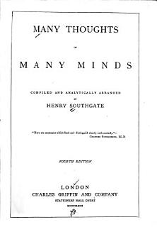 Many Thoughts of Many Minds Book