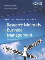 Research Methods for Business   Management PDF