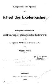 Komposition und Quellen der Rätsel des Exeterbuches