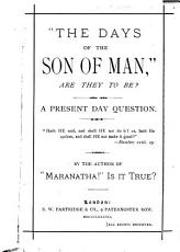 The Days of the Son of Man PDF
