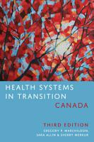 Health Systems in Transition  Canada  Third Edition PDF