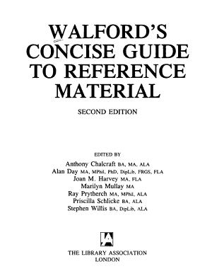 Walford s Concise Guide to Reference Material PDF