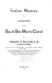 Indian Names and History of the Sault Ste. Marie Canal