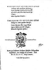 Dialogai treis kata tinon haireseon ... Dialogi tres contra quasdam haereses. Contra haereticos liber, in quo illorum nugas et fabulas narrat et redarguit. Divinorum dogmatum epitome (graece)
