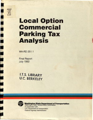 Local Option Commercial Parking Tax Analysis PDF