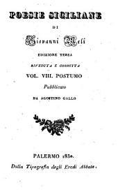 Poesie Siciliane: Postumo, Volume 8