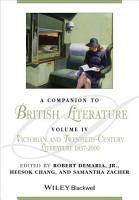 A Companion to British Literature  Volume 4 PDF