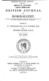 The British Journal of Homoeopathy: Volume 31