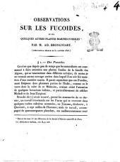 Observations sur les fucoides, et sur quelques autres plantes marines fossiles par M. Ad. Brongniart