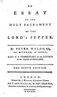 An Essay on the Holy Sacrament of the Lord s Supper     Fifth edition PDF