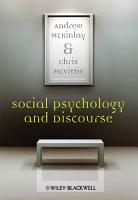Social Psychology and Discourse PDF