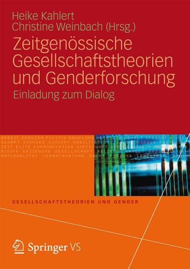 Zeitgen  ssische Gesellschaftstheorien und Genderforschung PDF
