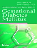 American Dietetic Association Guide to Gestational Diabetes Mellitus PDF