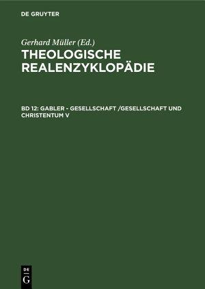 Gabler   Gesellschaft  Gesellschaft und Christentum V PDF