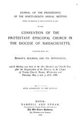 Journal of the ... Annual Convention, Diocese of Massachusetts: Volumes 98-105