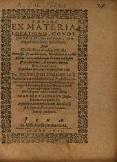 Theses Ex Materia, Locationis, Conductionis Et Emphyteusis ...