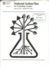 National Action Plan for Technology Transfer: March 1979 - September 1981