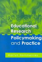 Educational Research  Policymaking and Practice PDF