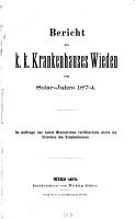 Bericht des K K  Krankenhauses Wieden0 PDF