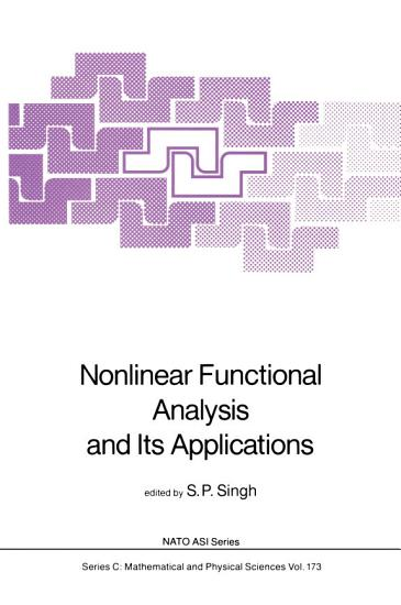 Nonlinear Functional Analysis and Its Applications PDF